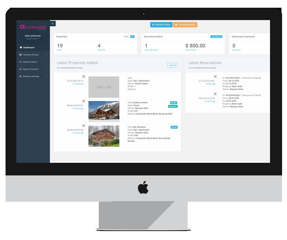 Rent Apartment Website: Vacation Rentals Website
