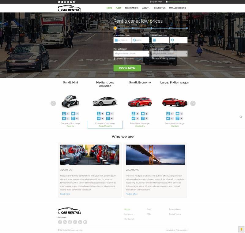 Rent Apartment Website: Car Rentals Website